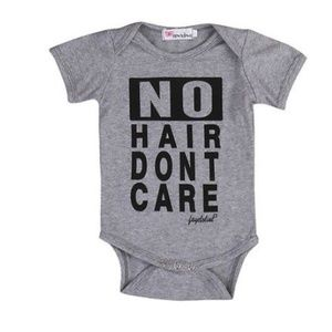 """Other - Boutique baby onesie """"no hair don't care"""""""